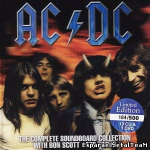AC/DC - The Complete Soundboard Collection With Bon Scott 1976 - 1979 (2011) [Limited Edition, 13 CD & 1 DVD Box Set]