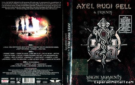 Axel Rudi Pell - Magic Moments - 25th Anniversary Special Show (2015) [3xDVD]